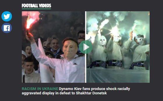 """Британский таблоид назвал бесчинства украинских фанатов """"расизмом в России"""""""