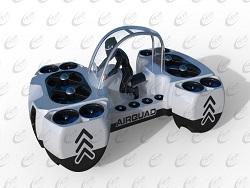 Представлена новая летающая машина   пассажирский коптер AirQuadOne