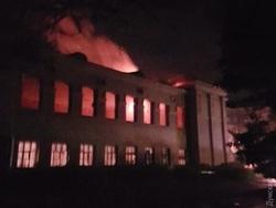 Photo of В Одессе сгорел будущий штаб ВМС Украины