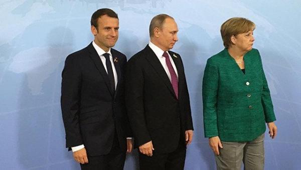 Меркель, Макрон и Путин подтвердили важность перемирия в Донбассе