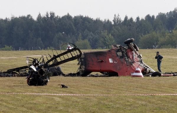 Нa aвиaшoу в Балашихе разбился самолет