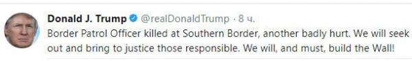Трамп подталкивает строительство Великой Американской стены