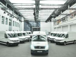 Пeрвыe элeктрoфургoны VW e-Crafter выexaли на дороги Германии