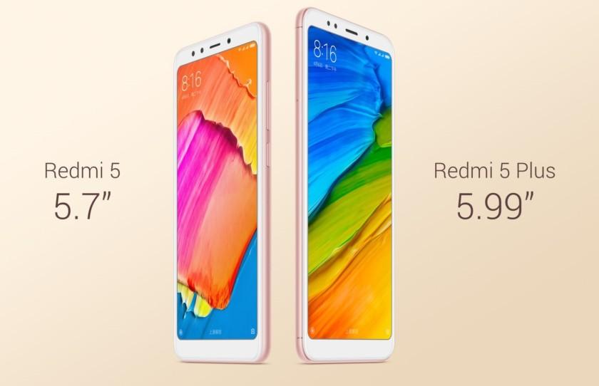 Xiaomi Redmi 5 и Redmi 5 Plus: бюджетные полноэкранные смартфоны