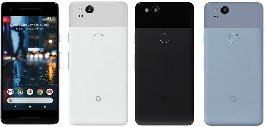 Изображения Googel Pixel 2 и Pixel 2 XL появились за два дня до презентации