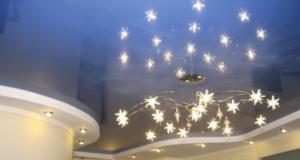 Варианты оформления потолка в спальне – преимущества натяжных потолков