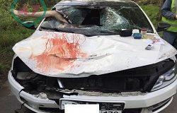 Полицейский разорвал пешехода своим автомобилем и поехал спать