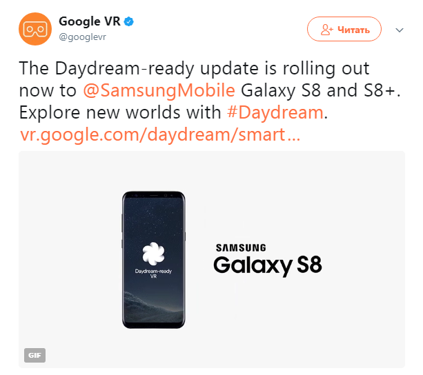 Photo of Samsung Galaxy S8 и S8+ начали поддерживать Google Daydream VR