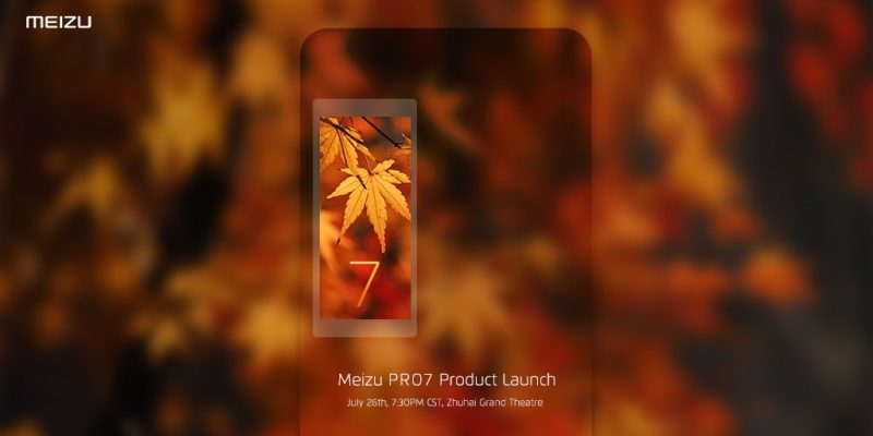 Photo of Появилось официальное изображение Meizu Pro 7 с датой запуска