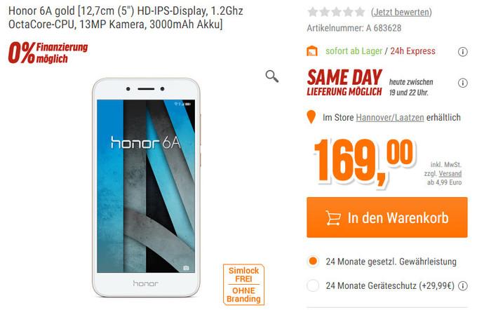 Photo of Середнячок Honor 6A с Android Nougat начали продавать в Европе за €169