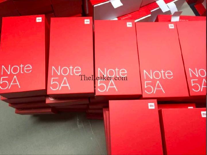 В сеть попало фото розничных коробок для Xiaomi Redmi Note 5A