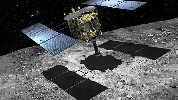 Японский зонд «Хаябуса-2» произвёл взрыв на астероиде Рюгу для создания кратера0