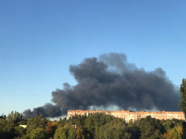 В Донецке взорвался склад боеприпасов0