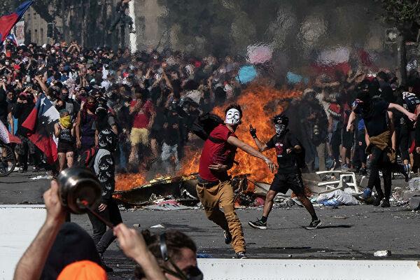 Госдепартамент США заявил о причастности России к массовым беспорядкам в Чили0
