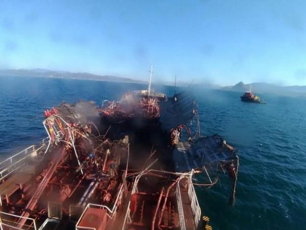 Взрыв газа на танкере: 3 погибших, есть раненые -
