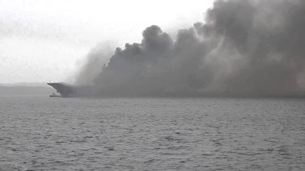 Photo of К горящему авианесущему крейсеру «Адмирал Кузнецов» едет губернатор Андрей Чибис