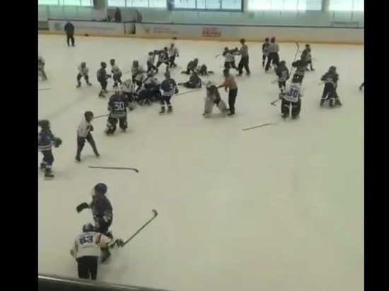 Photo of В Тольятти 11-летние хоккеисты устроили побоище после матча