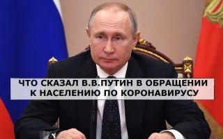 Photo of Что сказал Президент РФ в обращении к населению по коронавирусу